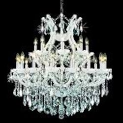 "Maria Theresa Collection 25-Light 36"" White Crystal Chandelier 2800D36WH"