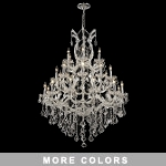 "Maria Theresa 28-Light 52"" Chrome or Gold Chandelier with Swarovski or European Crystals SKU# 31151"