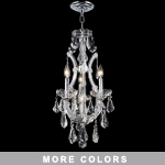 "Maria Theresa 4-Light 12"" Chrome or Gold  Chandelier with Swarovski or European Crystals SKU# 10405"
