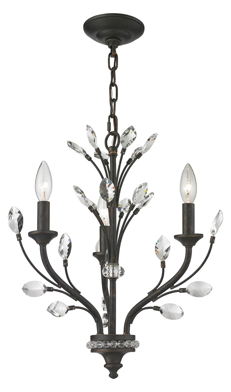 elk lighting crystal branches 3 light chandelier in burnt bronze burnt bronze 11774 3 from. Black Bedroom Furniture Sets. Home Design Ideas
