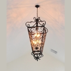 "Southern Collection 8-Light 51"" Kentucky Bronze Foyer Pendant 2938KB"