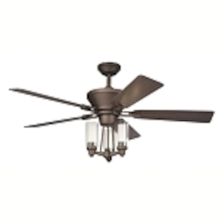 "Circolo Collection 52"" Olde Bronze Ceiling Fan with Light Kit 300005OZ"