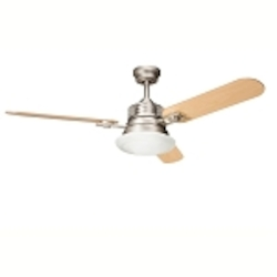 "Structures Collection 52"" Brushed Nickel Ceiling Fan with Reversible Maple/Marive Cherry Blades 300009NI"