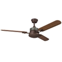 "Structures Collection 52"" Olde Bronze Ceiling Fan with Reversible Cherry/Walnut Blades 300009OZ"