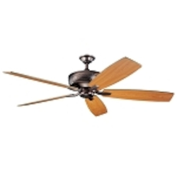 "Monarch Collection 70"" Oil Brushed Bronze Ceiling Fan with Reversible Cherry/Walnut Blades 300106OBB"