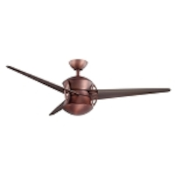 "Cadence Collection 54"" Oil Brushed Bronze Ceiling Fan with Clear Oil Brushed Bronze Blades 300125OBB"