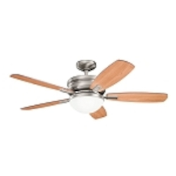 "Carlson Collection 52"" Antique Pewter Ceiling Fan with Reversible Light Cherry/Dark Cherry Blades 300138AP"