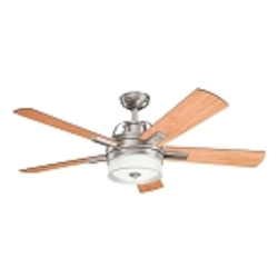 "Lacey Collection 52"" Antique Pewter Ceiling Fan with Reversible Light Cherry/Dark Cherry Blades 300181AP"