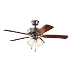 Kichler Four Light Oil Brushed Bronze Ceiling Fan - 339240OBBU