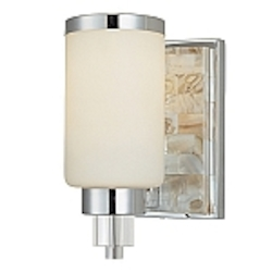 "Cashelmara Design 1-Light 5"" Natural Mosaic Shell Wall Sconce 3241-77"