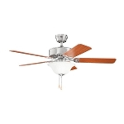 Kichler Two Light Brushed Stainless Steel Ceiling Fan - 330103BSS