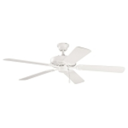"Sterling Manor Collection 52"" Satin Natural White Ceiling Fan with Satin Natural White Blades 339010SNW"