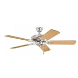"Sutter Place Collection 52"" Brushed Stainless Steel Ceiling Fan with Reversible Light Oak/Medium Oak Blades 339011BSS"