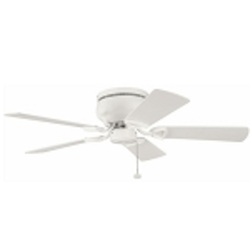 "Stratmoor Collection 42"" Satin Natural White Ceiling Fan with Satin Natural White Blades 339017SNW"