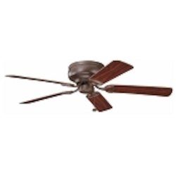 "Stratmoor Collection 52"" Tannery Bronze Ceiling Fan with Reversible Teak/Cherry Blades 339022TZ"