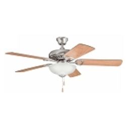 "Sutter Place Select Collection 52"" Antique Pewter Ceiling Fan with Reversible Light Cherry/Dark Cherry Blades 339211AP"