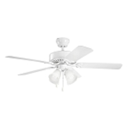 Kichler Four Light White Ceiling Fan - 339240WH