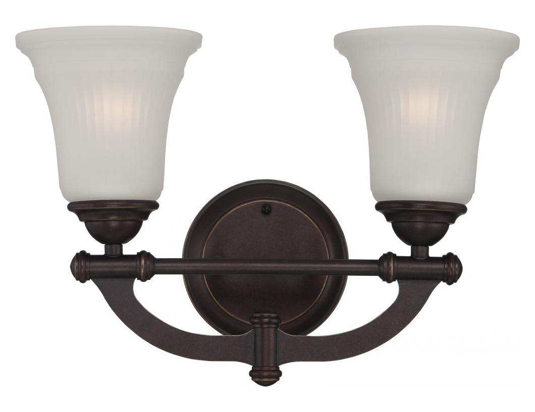 Nuvo Monroe 2 Light Vanity Fixture W Frosted Ribbed