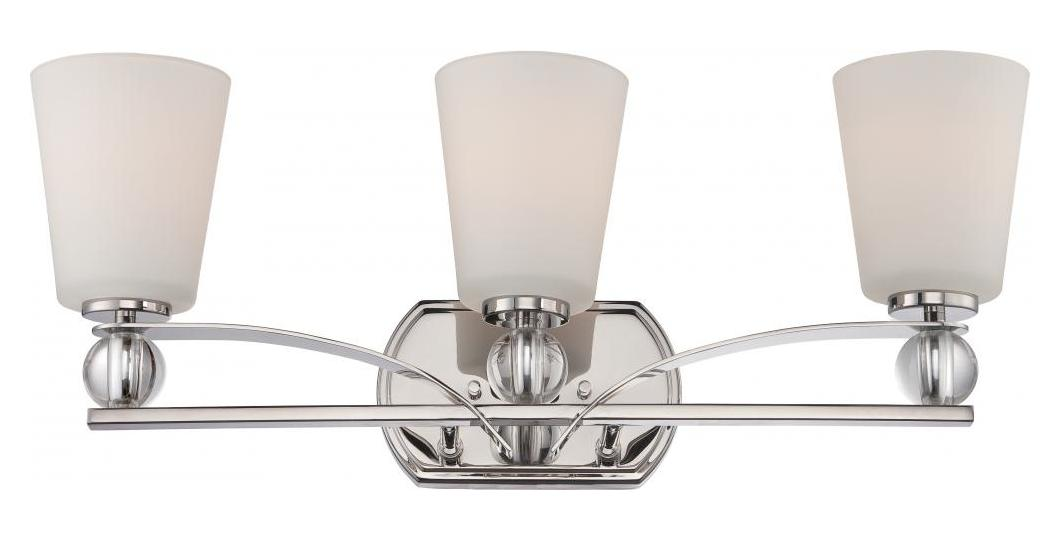 Nuvo Connie 3 Light Vanity Fixture W Satin White Glass