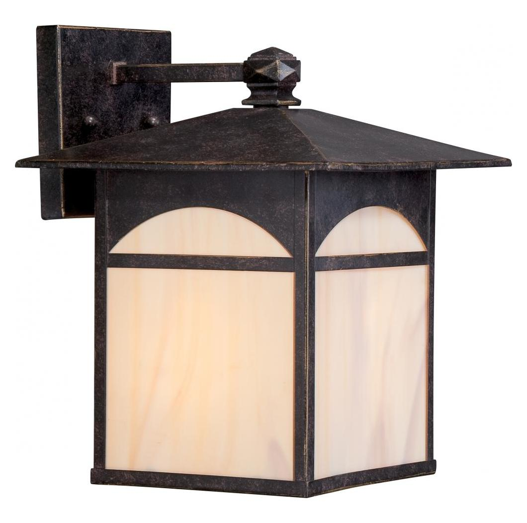 Nuvo Canyon 1 Lt 9 Outdoor Wall Fixture W Honey Stained