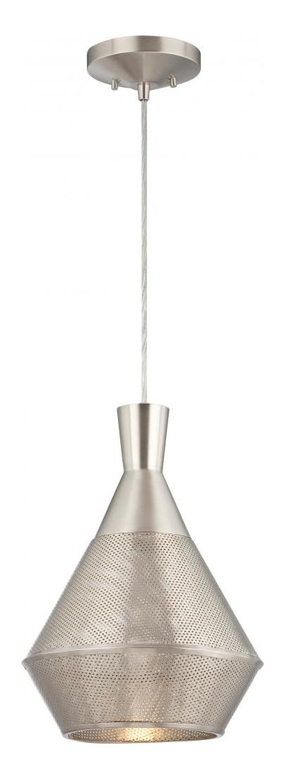 Nuvo Jake 1 Light Perforated Metal Shade Pendant W 14w