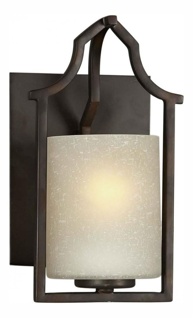 Bronze Glass Wall Lights : Forte One Light Antique Bronze Umber Linen Glass Wall Light Antique Bronze 2402-01-32 From 466 ...