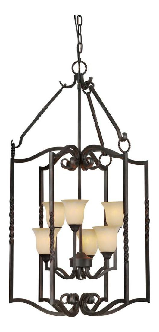 Open Frame Foyer Light : Forte six light bordeaux tapioca glass open frame foyer