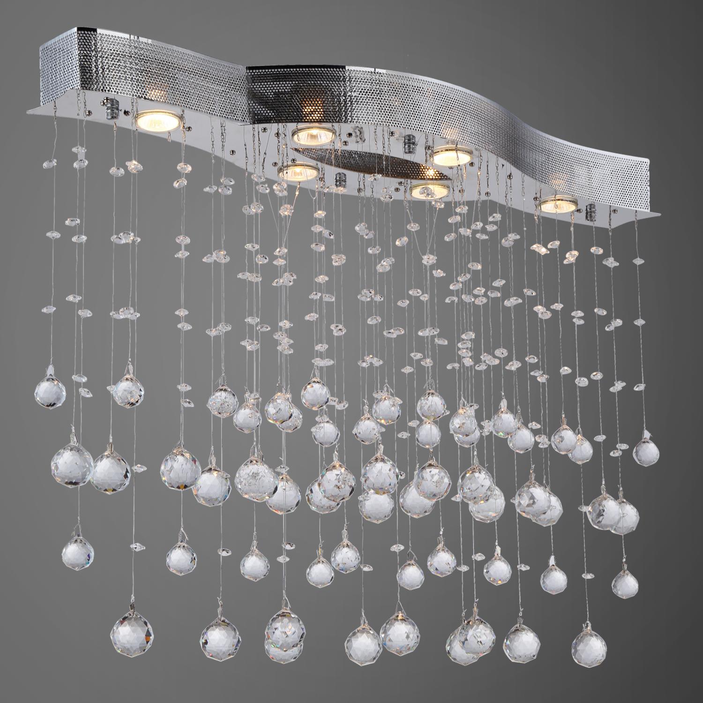 Light Pendant Chandelier Light Chrome Finish With European Crystals