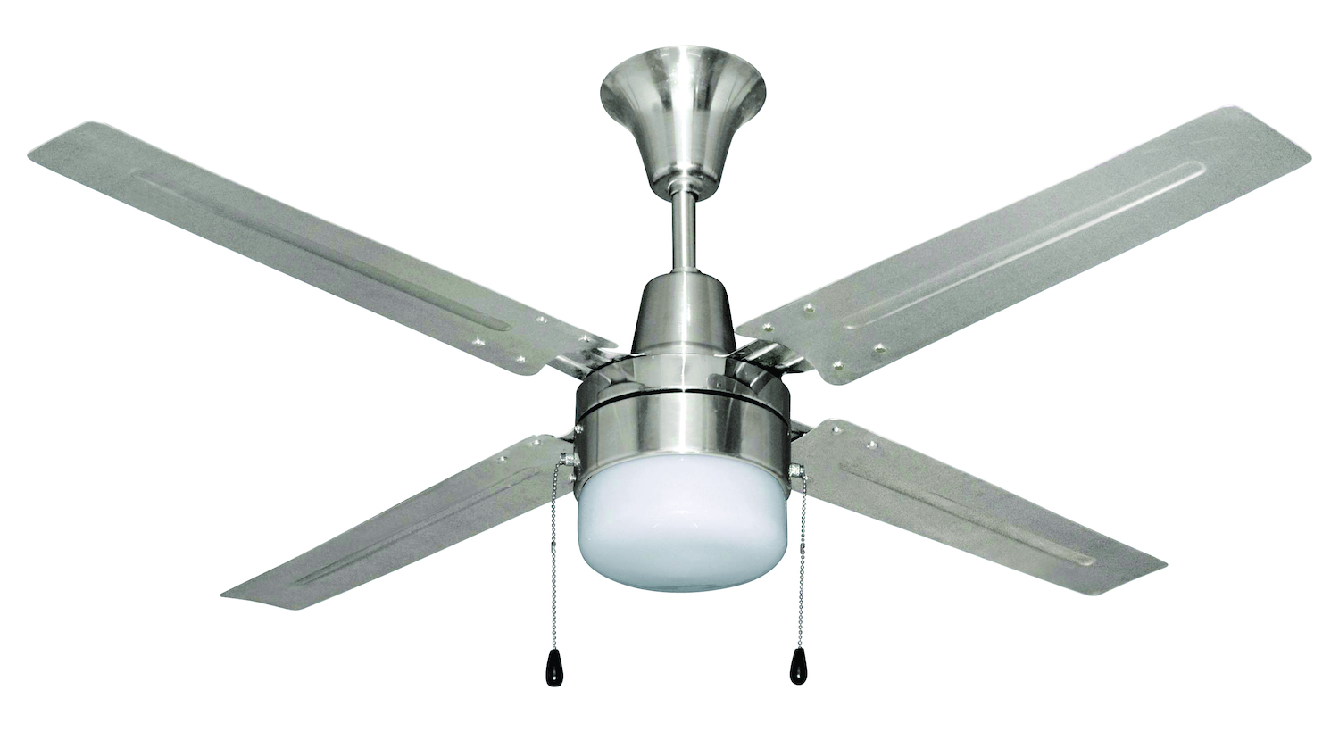 Chrome Ceiling Fans With Lights Remote Modern Brushed