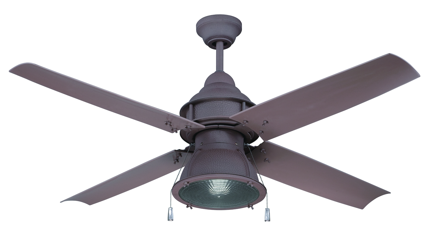 Craftmade Rustic Iron Ceiling Fan With Blades And Light