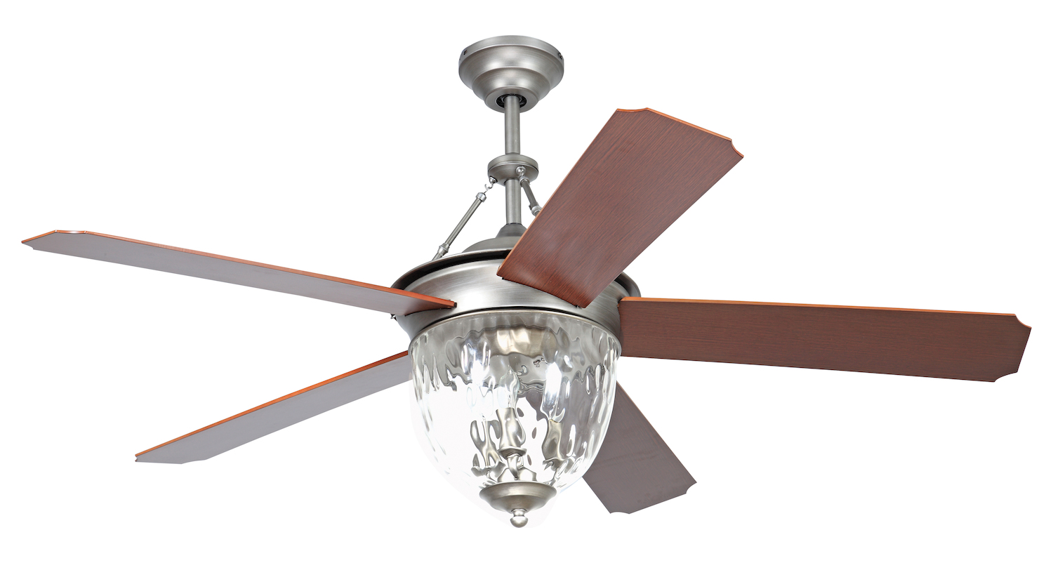 Craftmade 52 Ceiling Fan With Light Kit And Pewter Finish