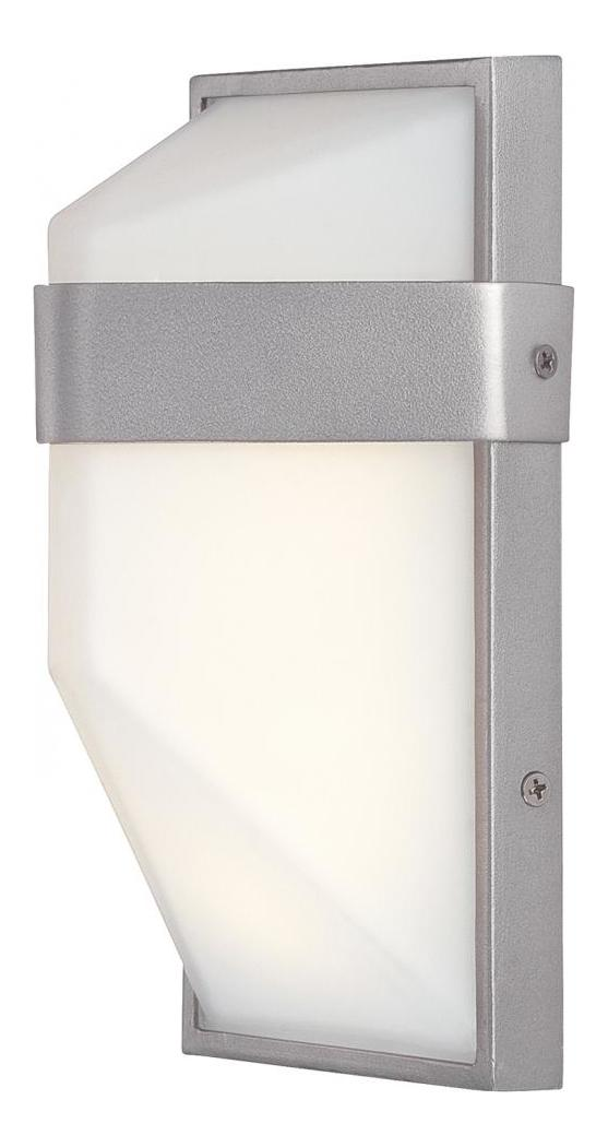 Minka George Kovacs Silver Dust LED Outdoor ADA Wall Sconce from the Wedge Collection Silver ...