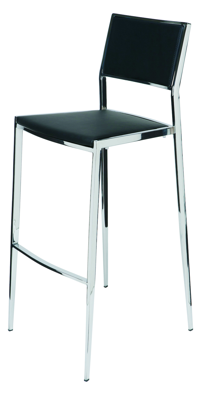 Nuevo Black Stackable Aaron Counter Stool Hgbo179