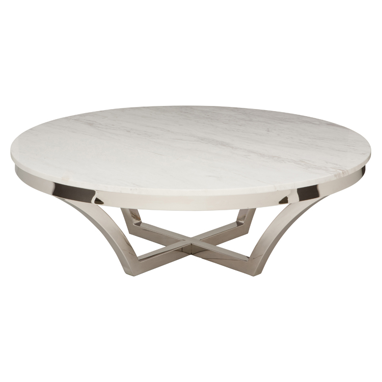 Nuevo White Marble Aurora Coffee Table Hgtb168