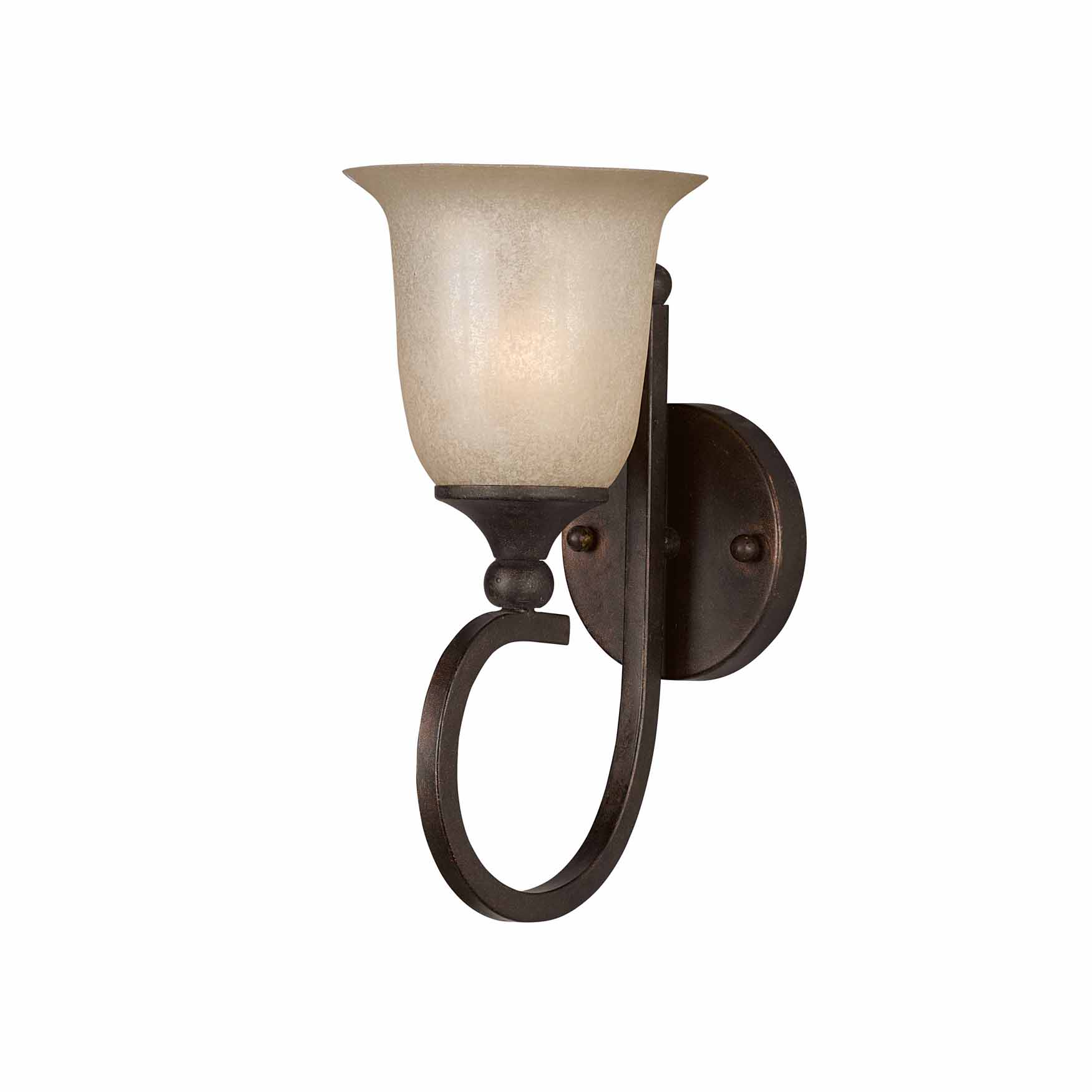 Wall Sconces Bronze Finish : Lumenno Int Athens Collection 1 Light Wall Sconce In A Bronze Finish 1001-00-01