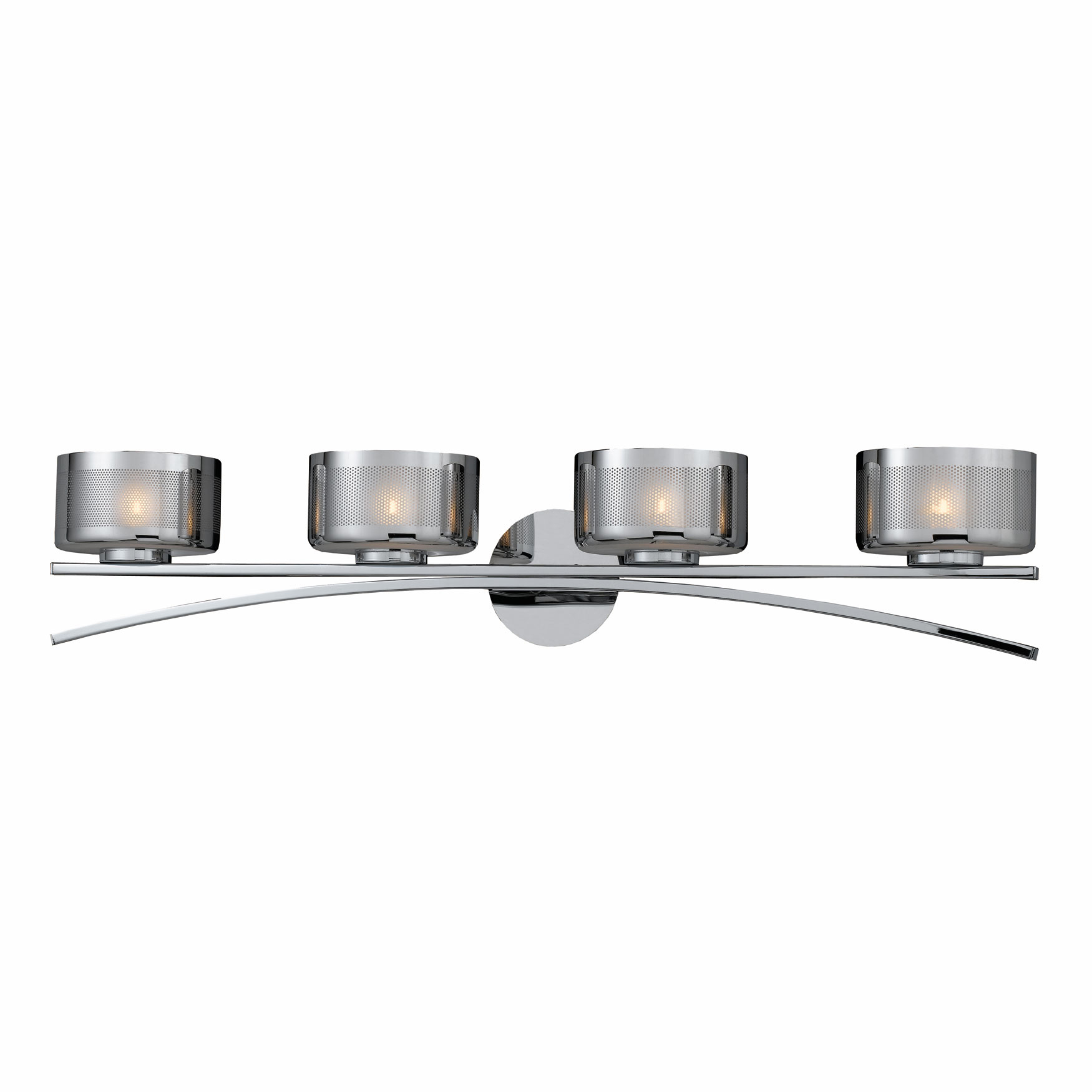 Lumenno Int Bodorlo Collection 4 Light Xenon Bath Vanity In A Chrome Finish Chrome Plated Finish ...