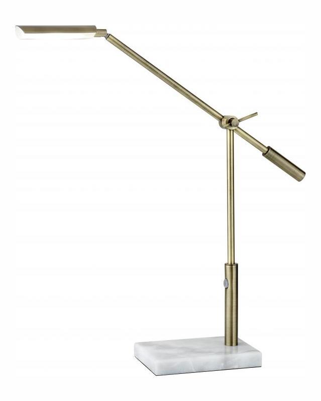Adesso Vera Led Desk Lamp White 4128 21 From Vera Collection