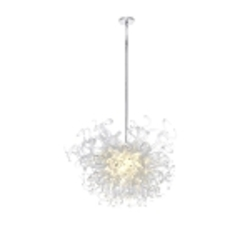 "Taurus LED Collection 18-Light 37"" Polished Chrome Pendant with Clear Glass 39735CLPC"