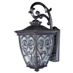 "Newbury 2-Light 18"" Oriental Bronze Outdoor Wall Lantern with Seeded Glass 40123CDOB"