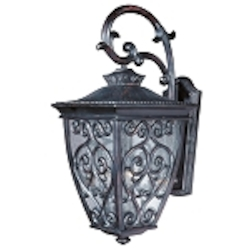 "Newbury 3-Light 25"" Oriental Bronze Outdoor Wall Lantern with Seeded Glass 40124CDOB"