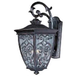 "Newbury 3-Light 30"" Oriental Bronze Outdoor Wall Lantern with Seeded Glass 40125CDOB"