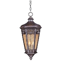 "Lexington Collection 3-Light 27"" Colonial Umber Outdoor Hanging Lantern 40177NSCU"