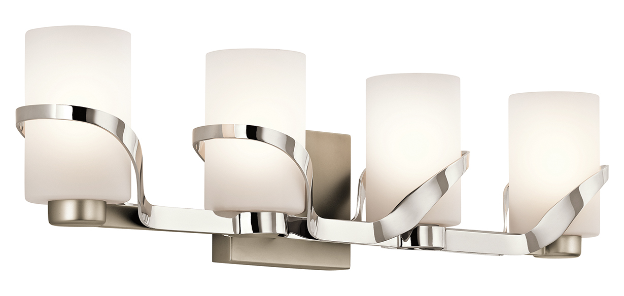 Vanity Lights Polished Nickel : Kichler Polished Nickel Stelata 4 Light Bathroom Vanity Light Polished Nickel 45630PN From ...