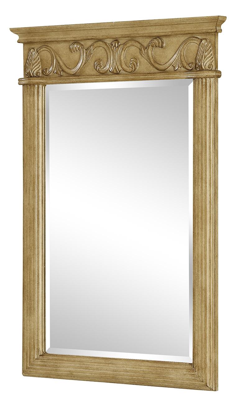 Elegant Decor Vanity Mirror 25In X 36In Antique Beige