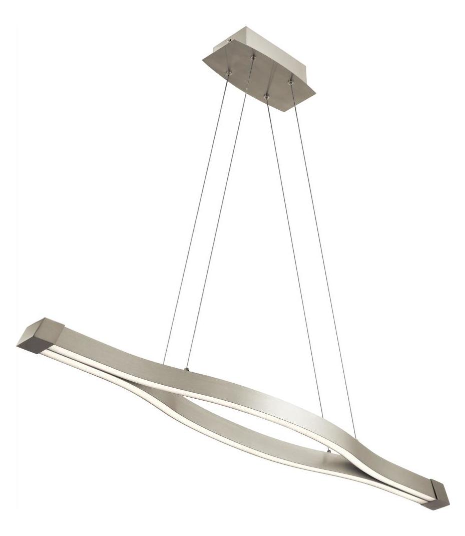 Elan Satin Nickel Nya Large Led Linear Chandelier Sn