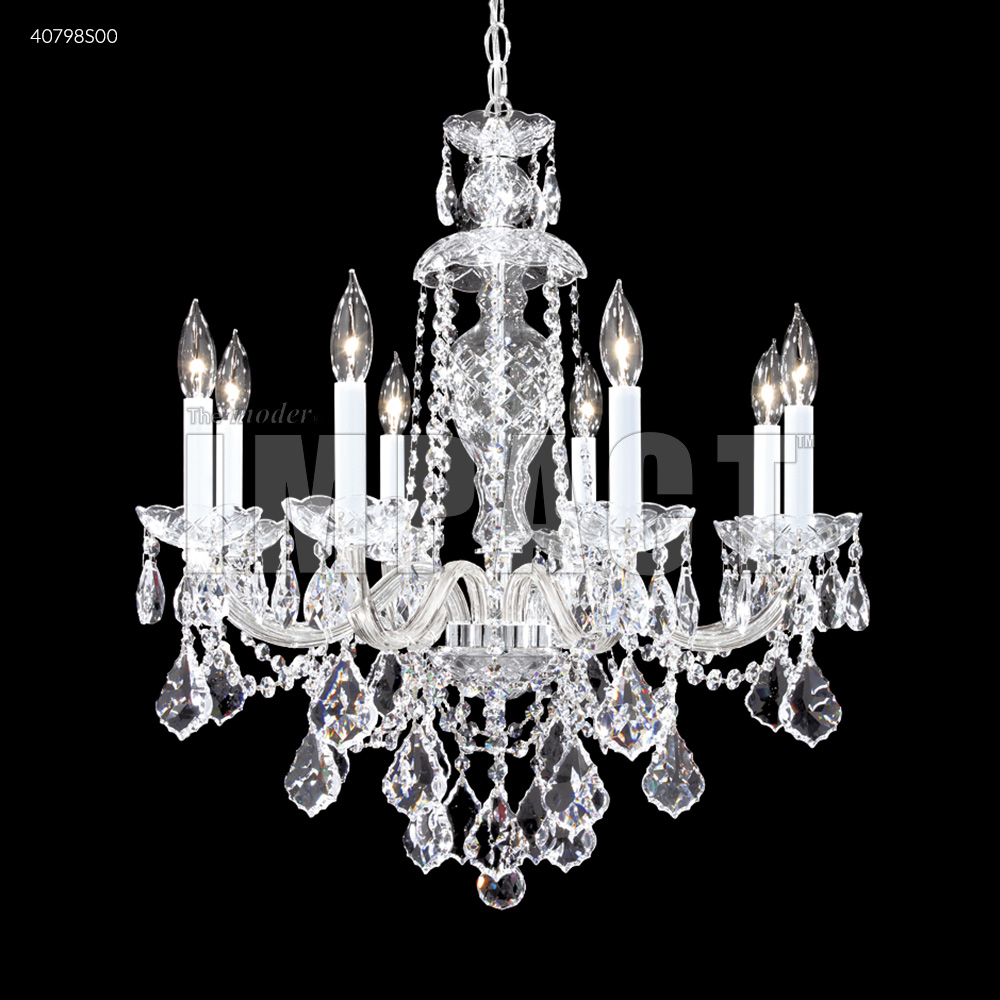 James R Moder Palace Ice 8 Arm Chandelier Silver 40798s00