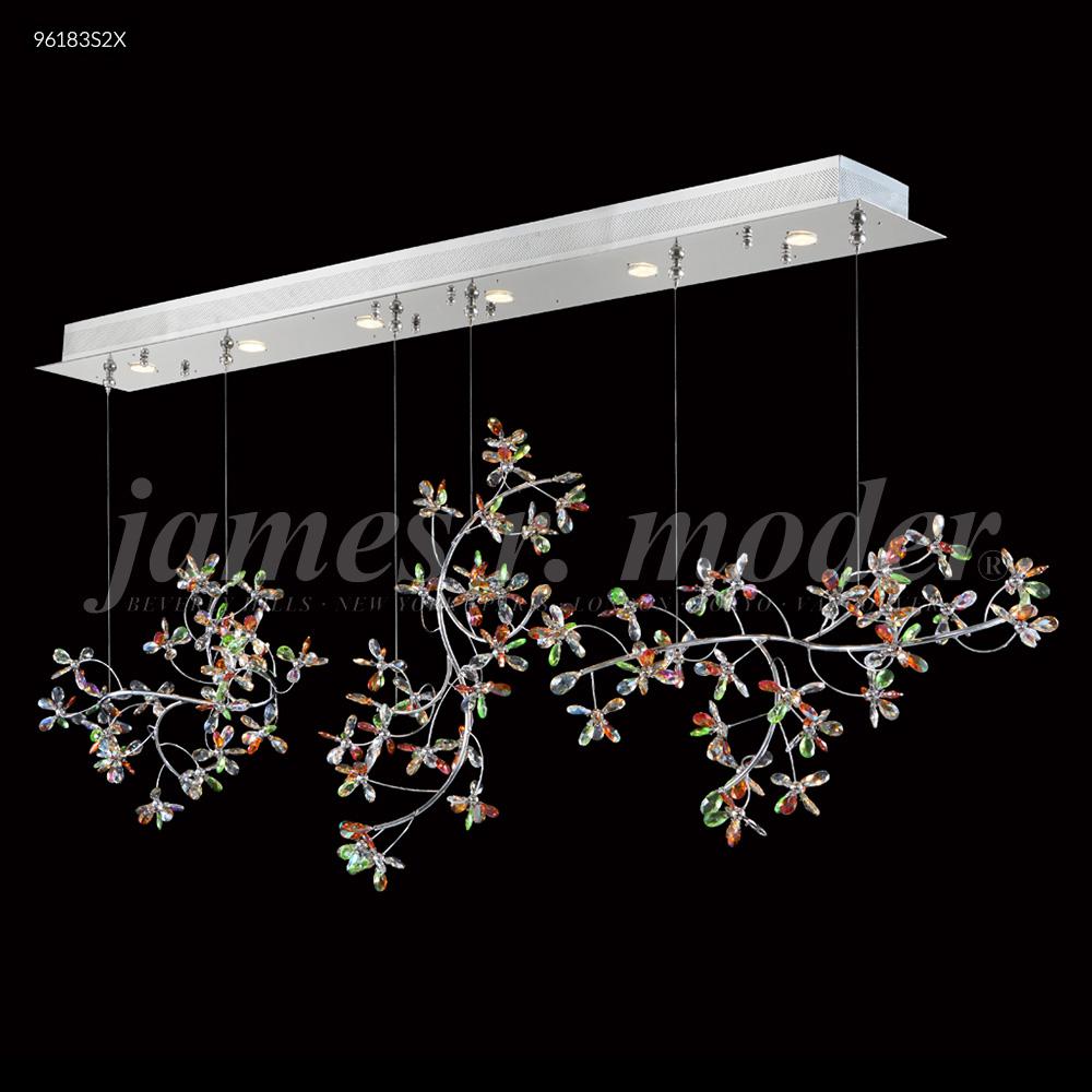 James R Moder Continental Fashion Floral Chandelier Silver