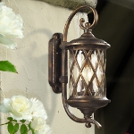 "Barrington Gate Collection 2-Light 24"" Hazelnut Bronze Outdoor Wall Lantern with Designer Water Glass 42031/2"