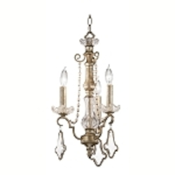 "Gracie Collection 3-Light 21"" Sunrise Mist Crystal Convertible Mini Chandelier, Semi-Flush or Wall Sconce 42114SRM"