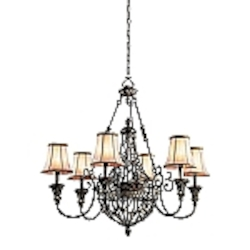 Marchesa Collection Traditional Chandelier with a Terrene Bronze Finish - 42227TRZ